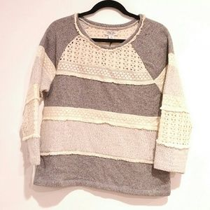 Lucky Lotus Women's NWT Knit and Lace Medium Shirt